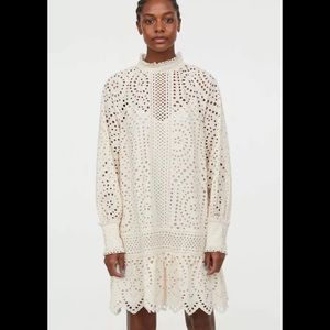 H&M eyelet embroidery tunic dress